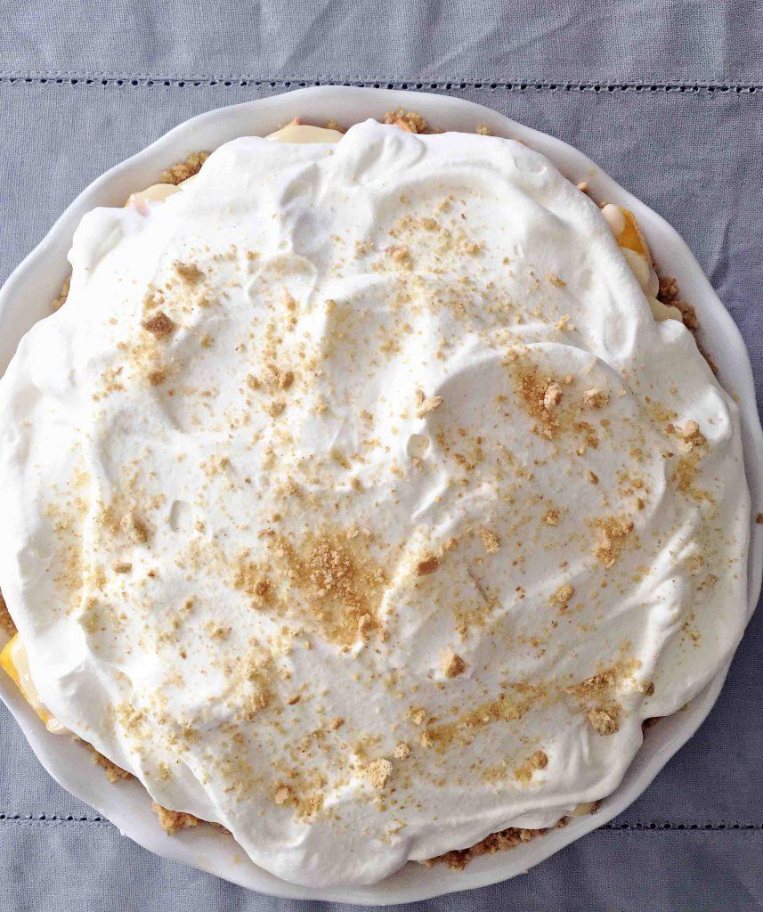 no bake fresh peach pie
