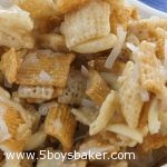 Bowl of Gooey Chex Mix