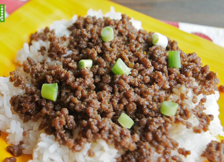 plate of Korean Beef over rice