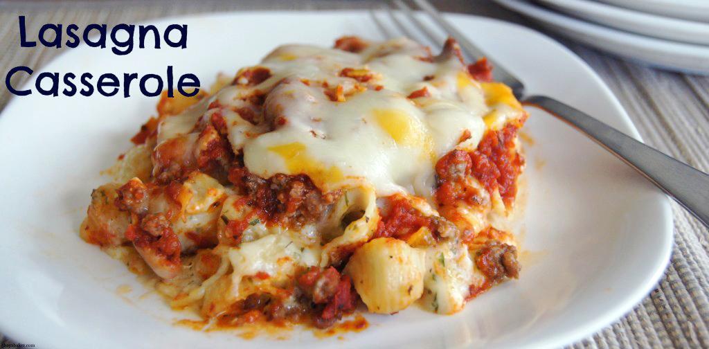 A plate of Lasagna Casserole