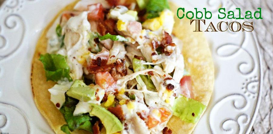 Overhead shot of a Cobb Salad Taco