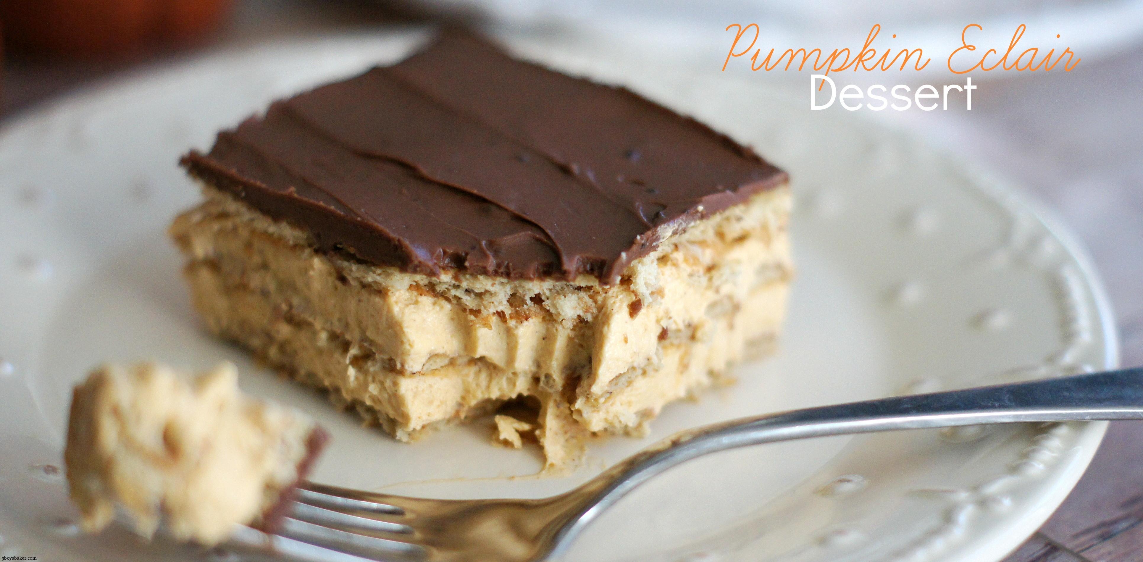 Pumpkin Eclair Dessert - 5BoysBaker