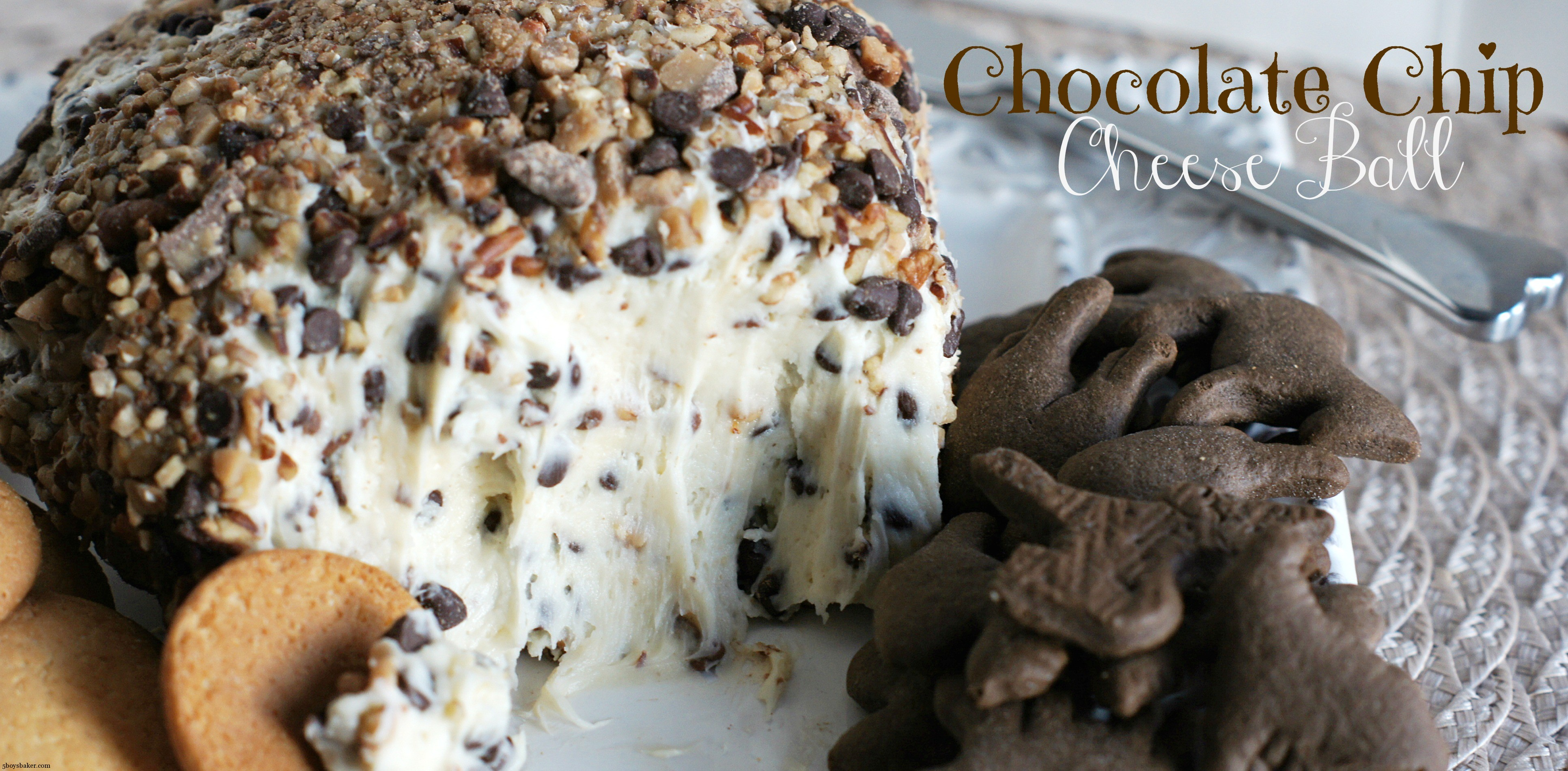 Chocolate Chip Cheese Ball - 5 BoysBaker