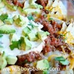 Pan of Ultimate Spicy Beef Nachos