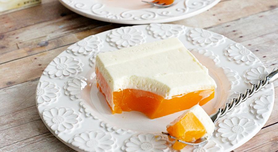 Plate or orange lemony jello