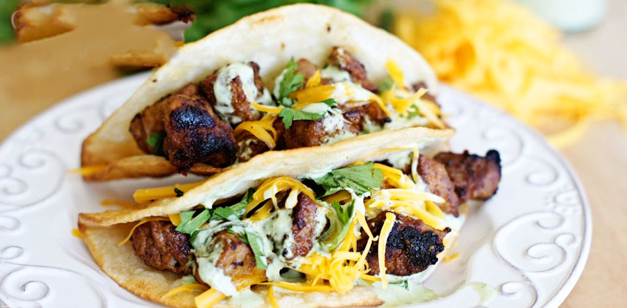 Two Quick & Simple Pork Tacos on a plate