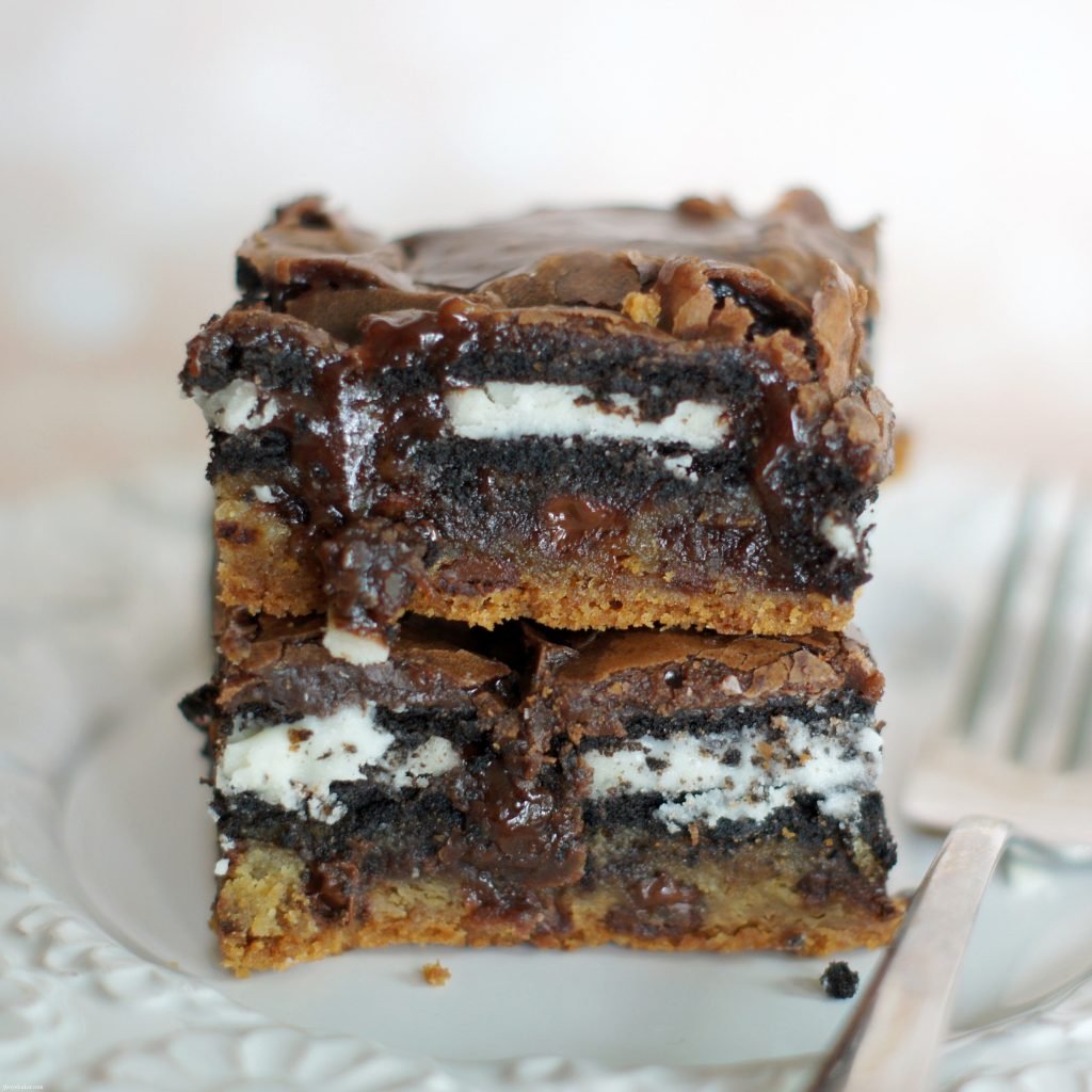 Chocolate Chip Cookie Oreo Fudge Brownie