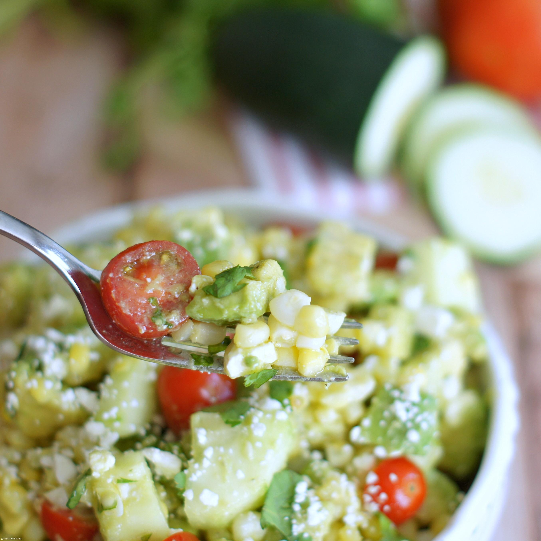 Fresh Corn & Avocado Salad - 5 Boys Baker
