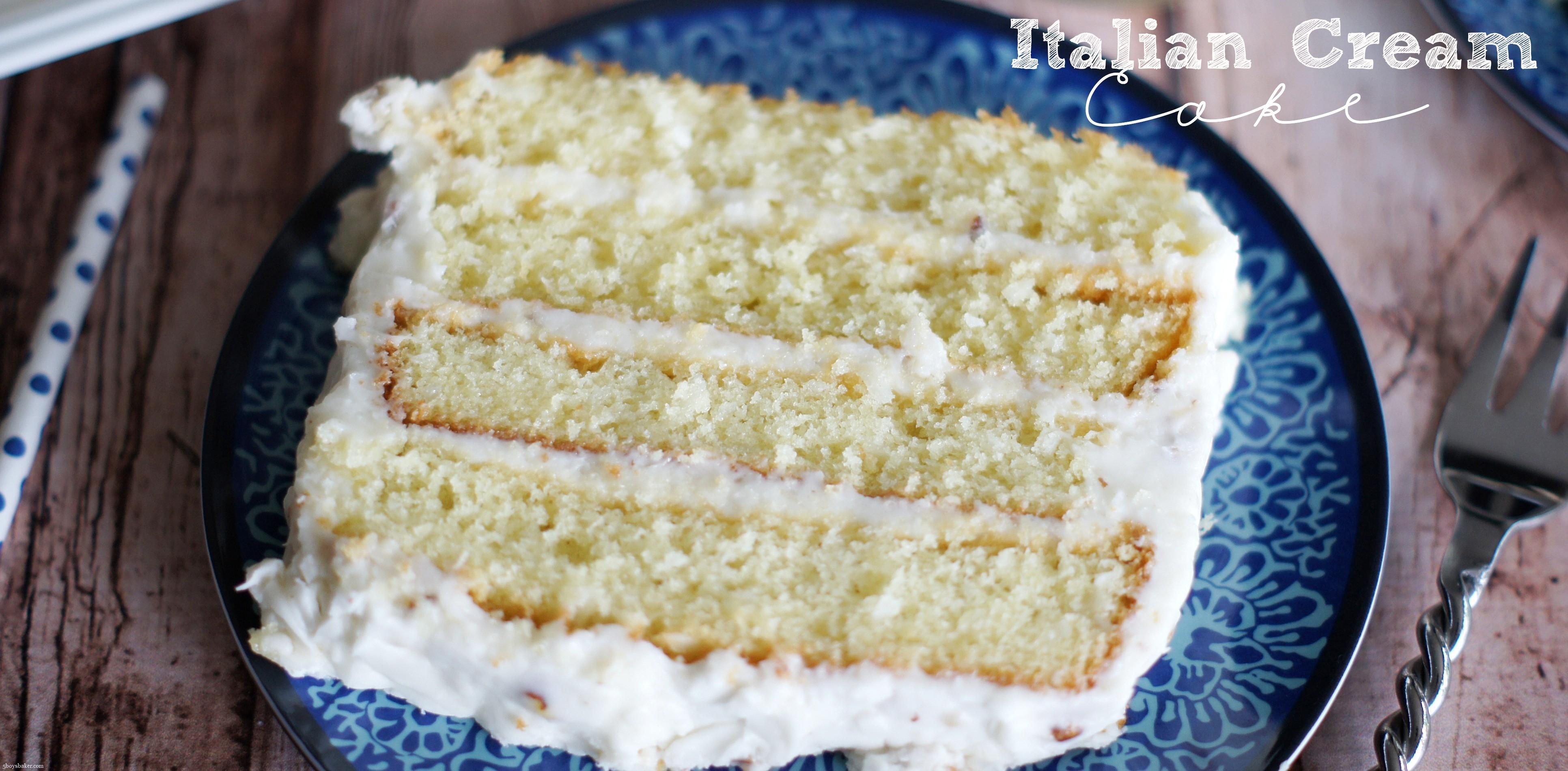 Italian Cream Cake 5 Boys Baker