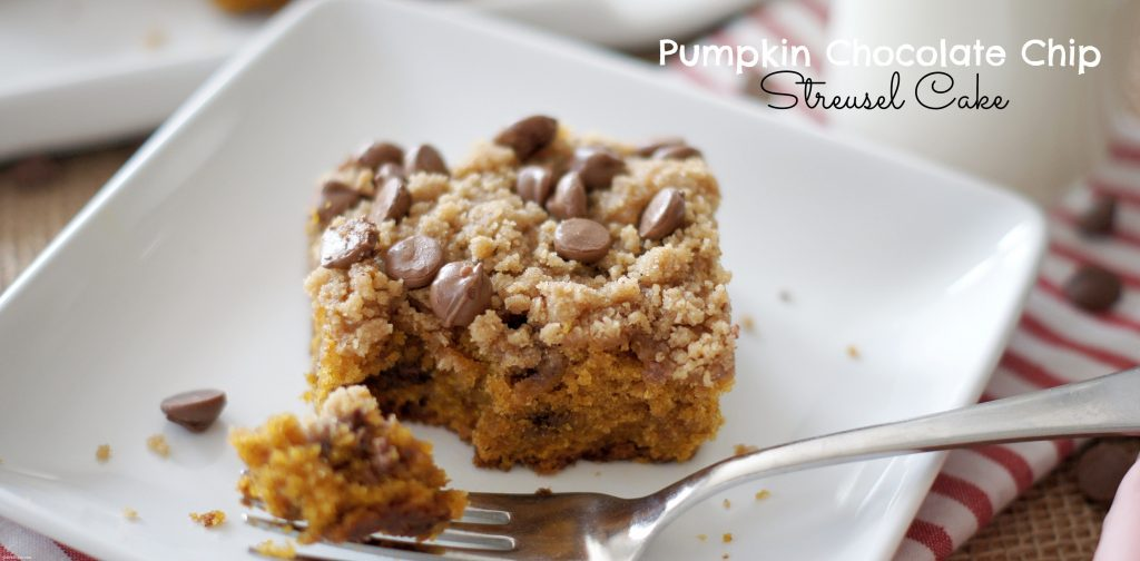 Pumpkin Chocolate Chip Streusel Cake