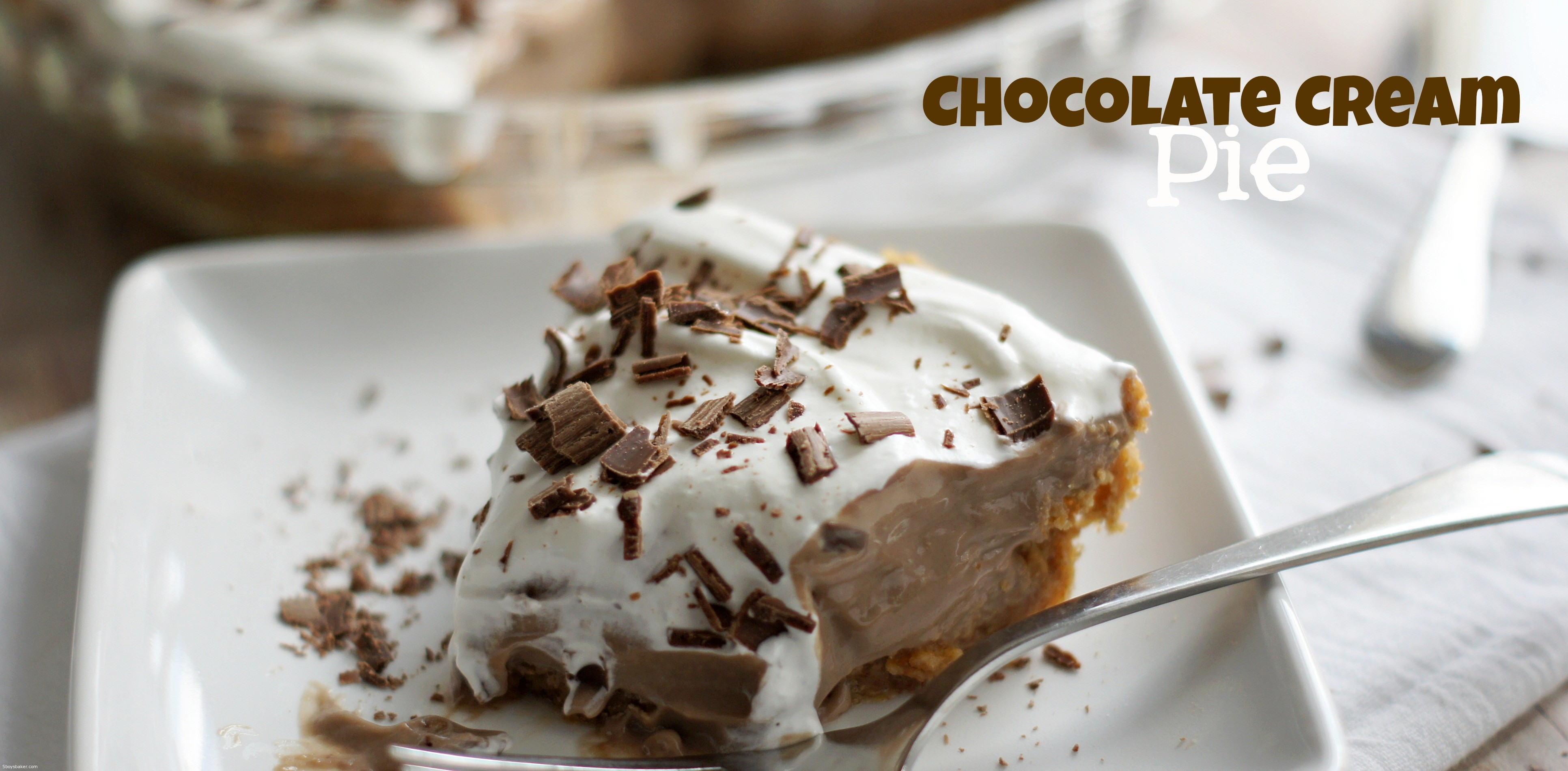 Chocolate cream pie is one of my all time favorite pies. It's true ...