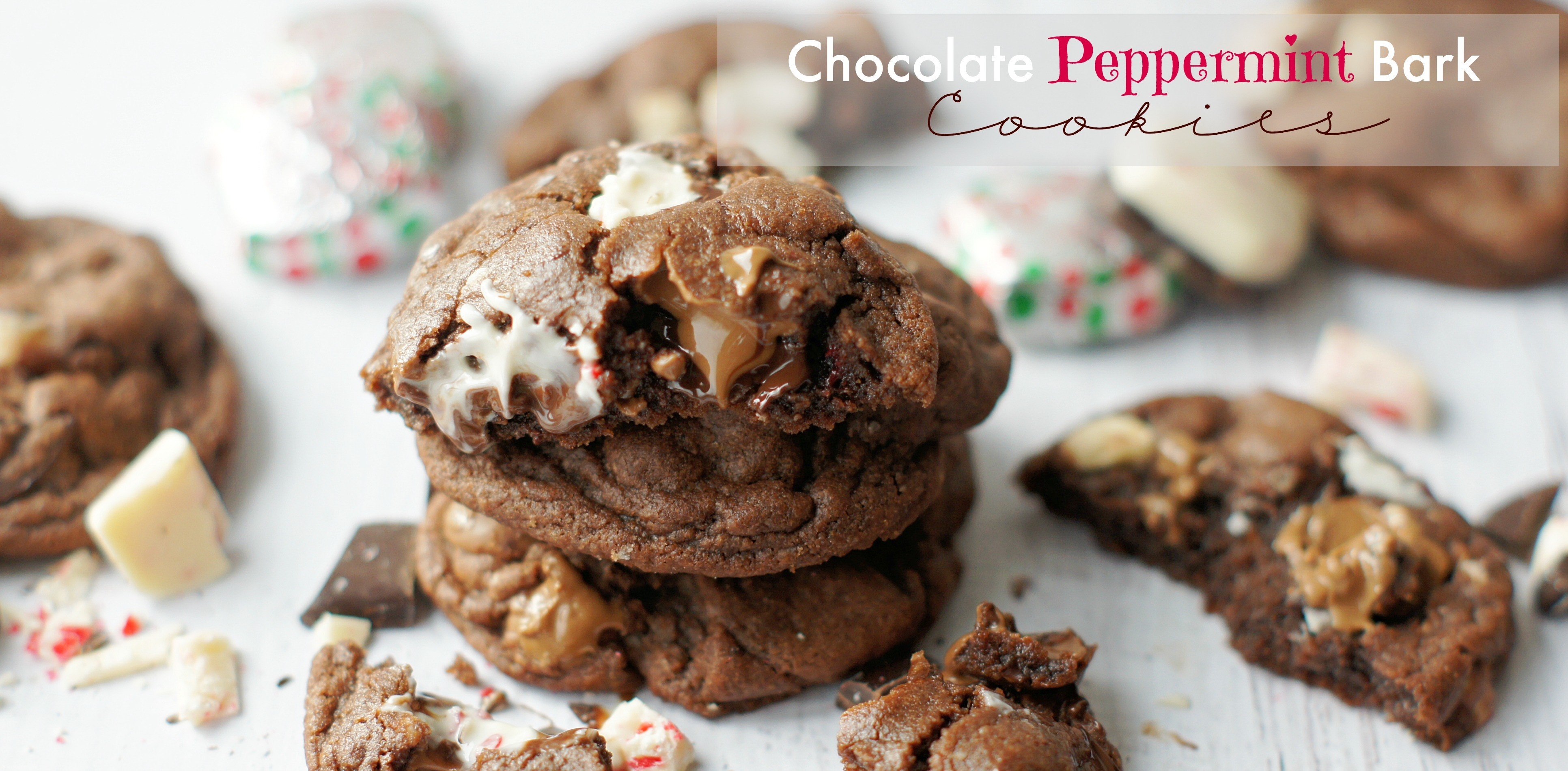 Chocolate Peppermint Bark Cookies Recipe — Dishmaps