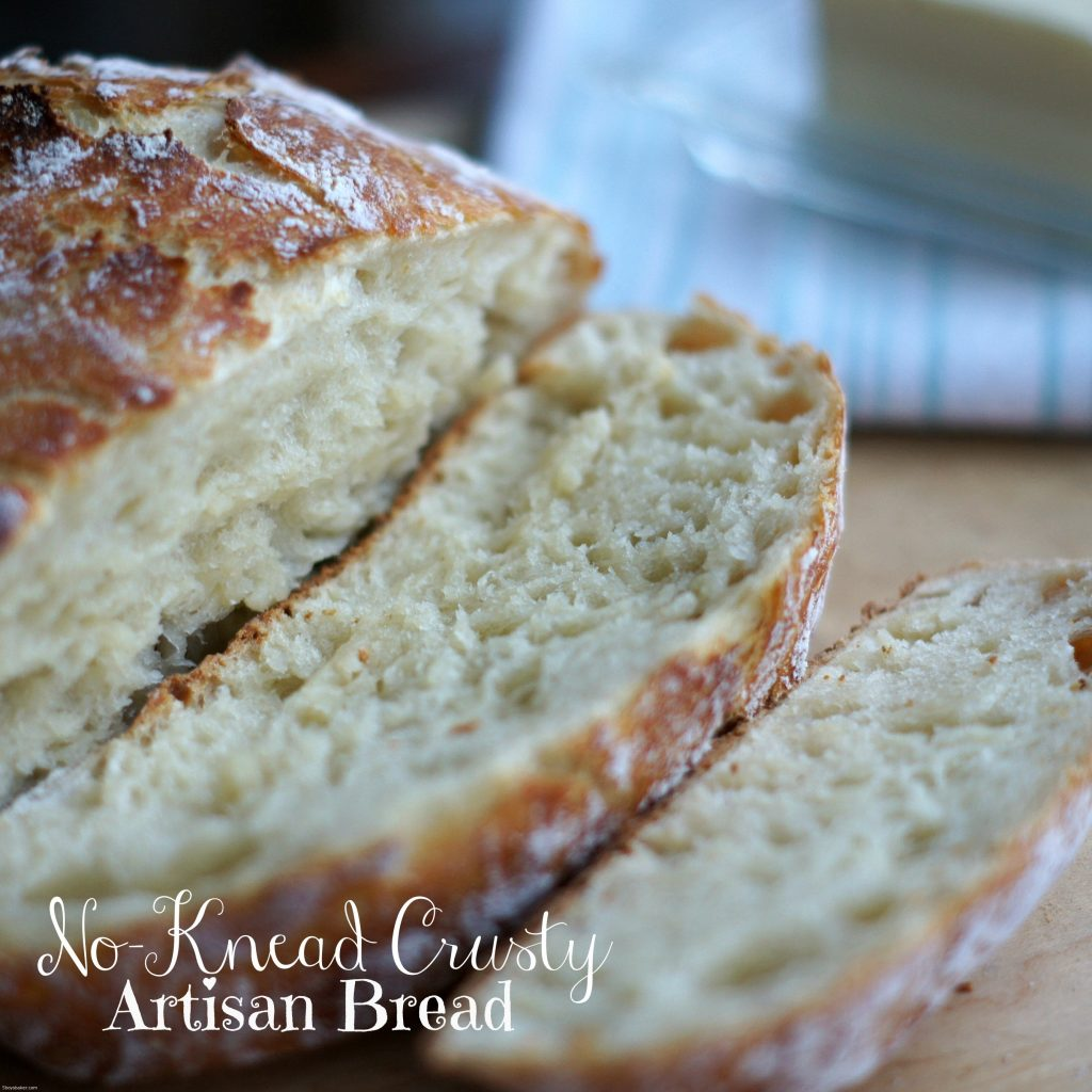 No-Knead Crusty Artisan Bread - 5 Boys Baker