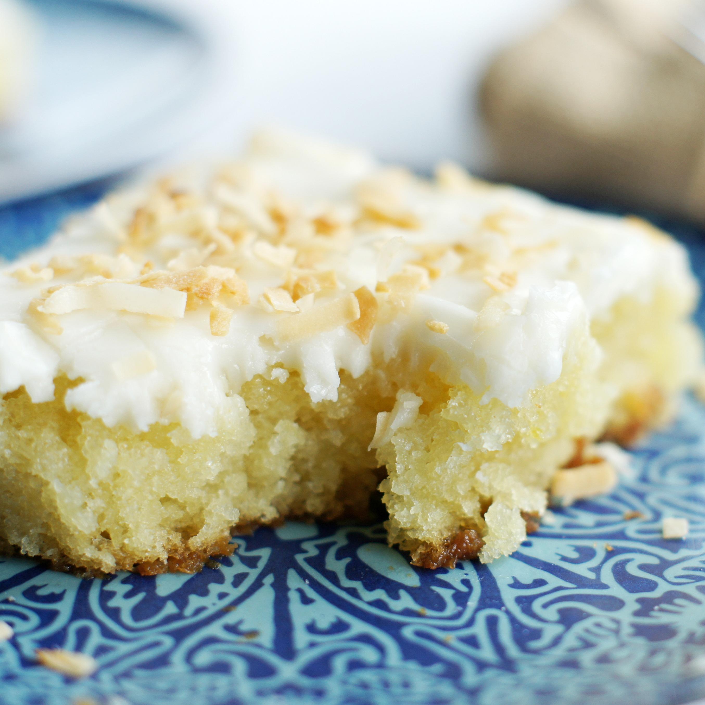 Coconut Sour Cream Sheet Cake
