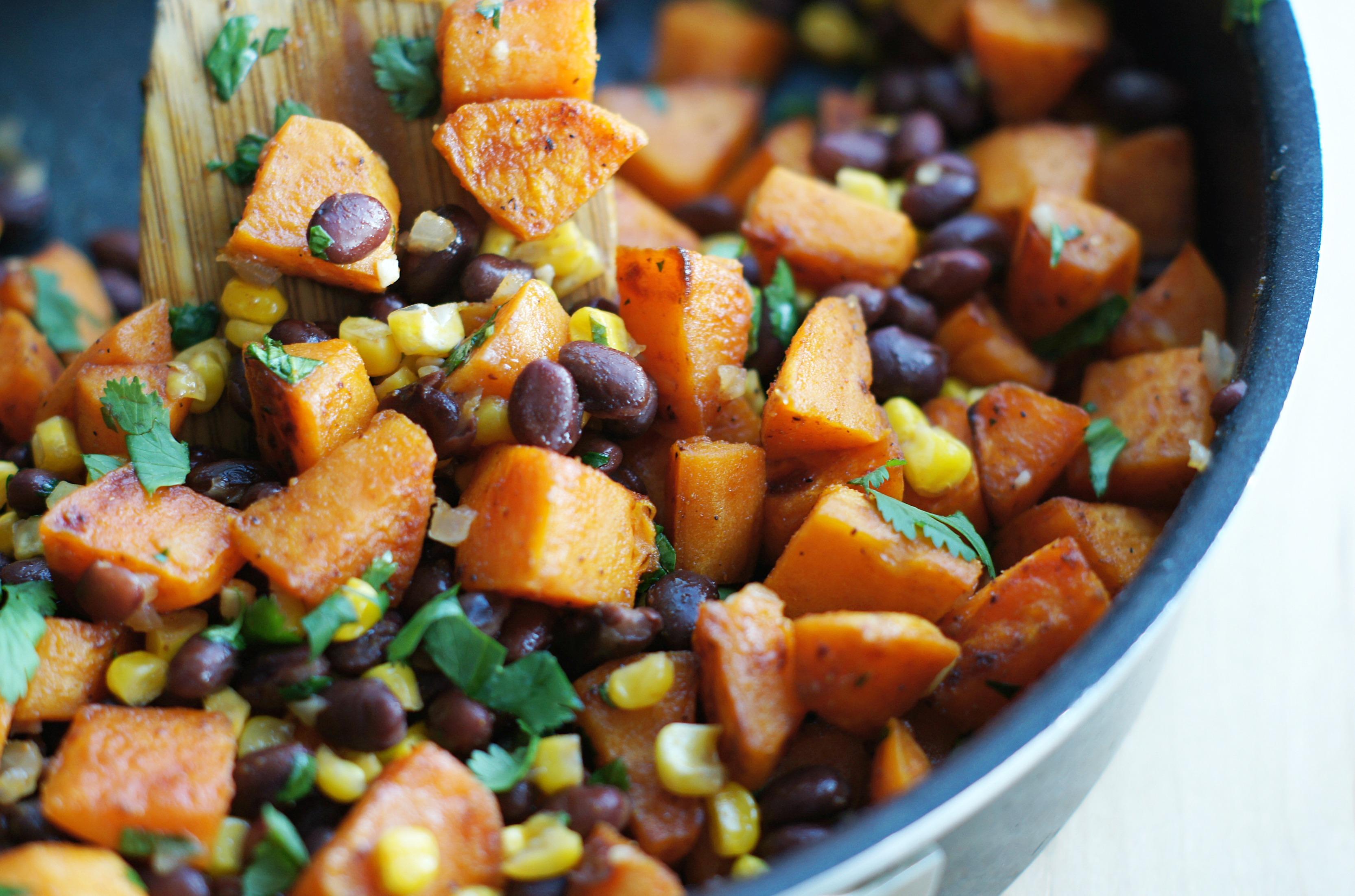 honey-lime sweet potato black bean tacos