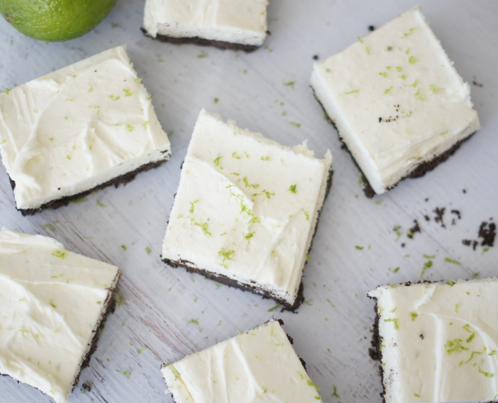 White Chocolate & Lime Cheesecake Bars - 5 Boys Baker