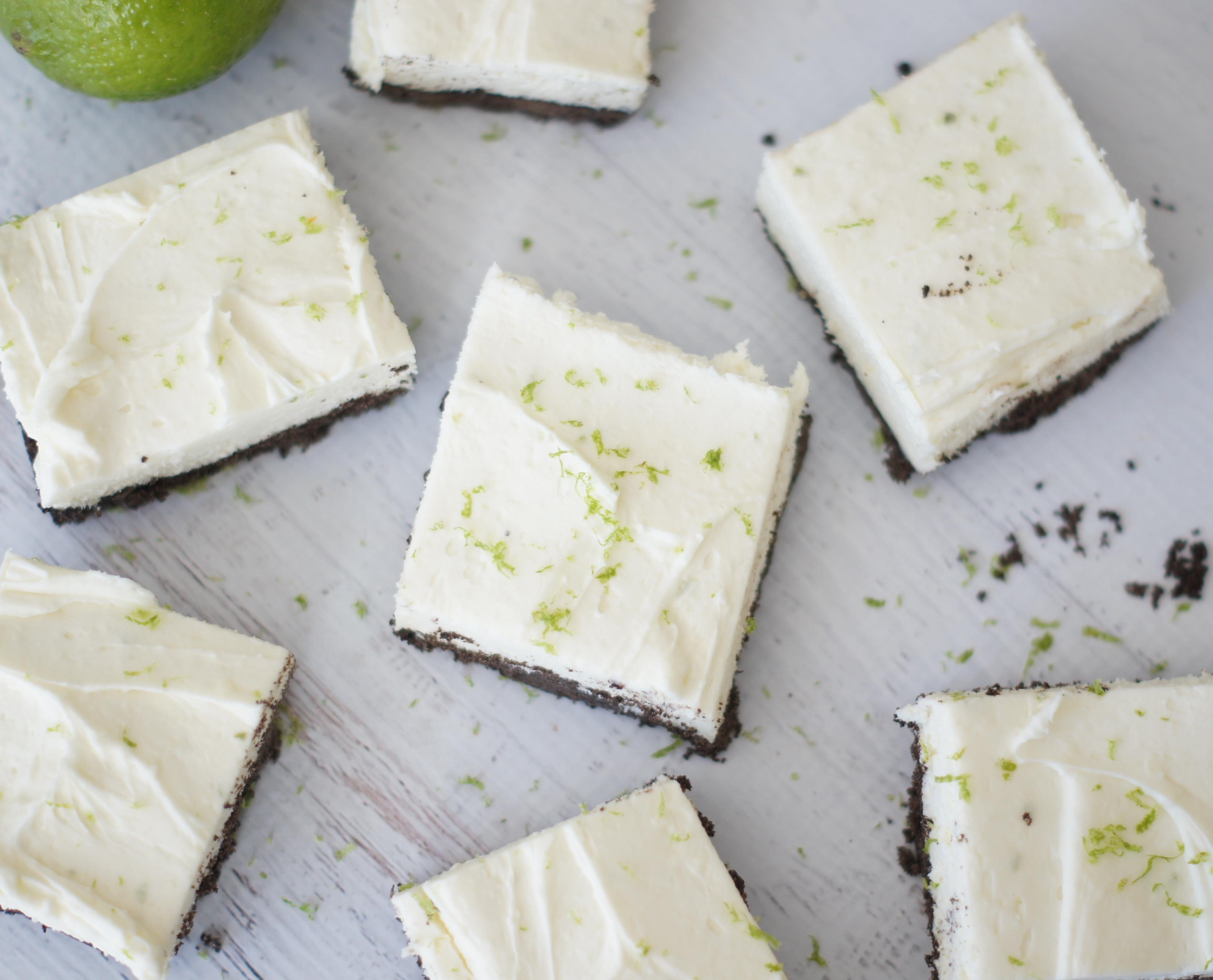 white chocolate lime cheesecake bars