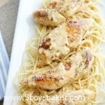 Chicken Lazone over pasta