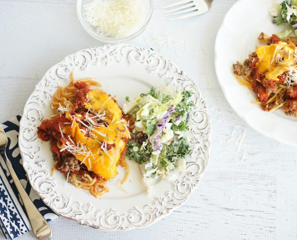 spaghetti casserole-slow cooker