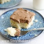Piece of Dinette Cake with Chocolate Buttercream