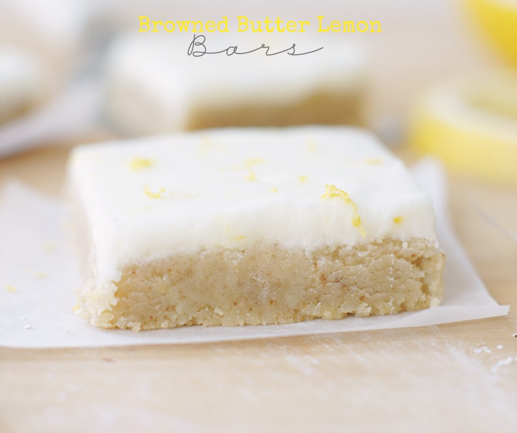 browned butter lemon bars