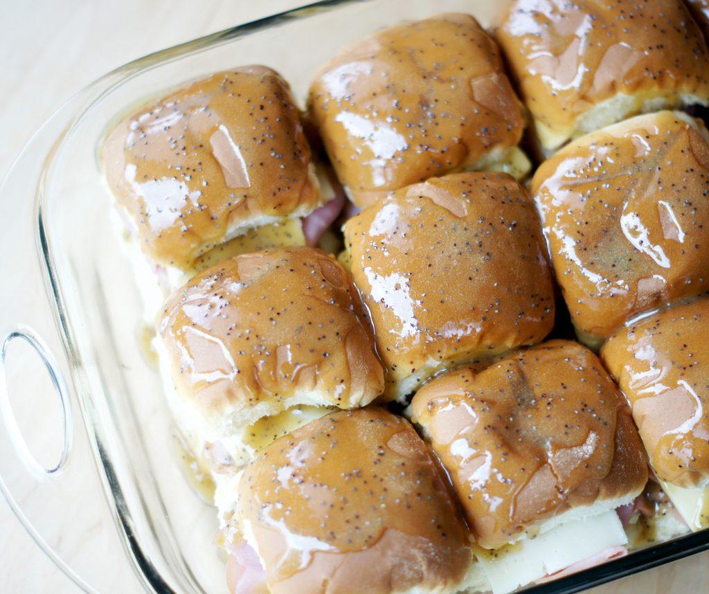 caramelized ham sliders