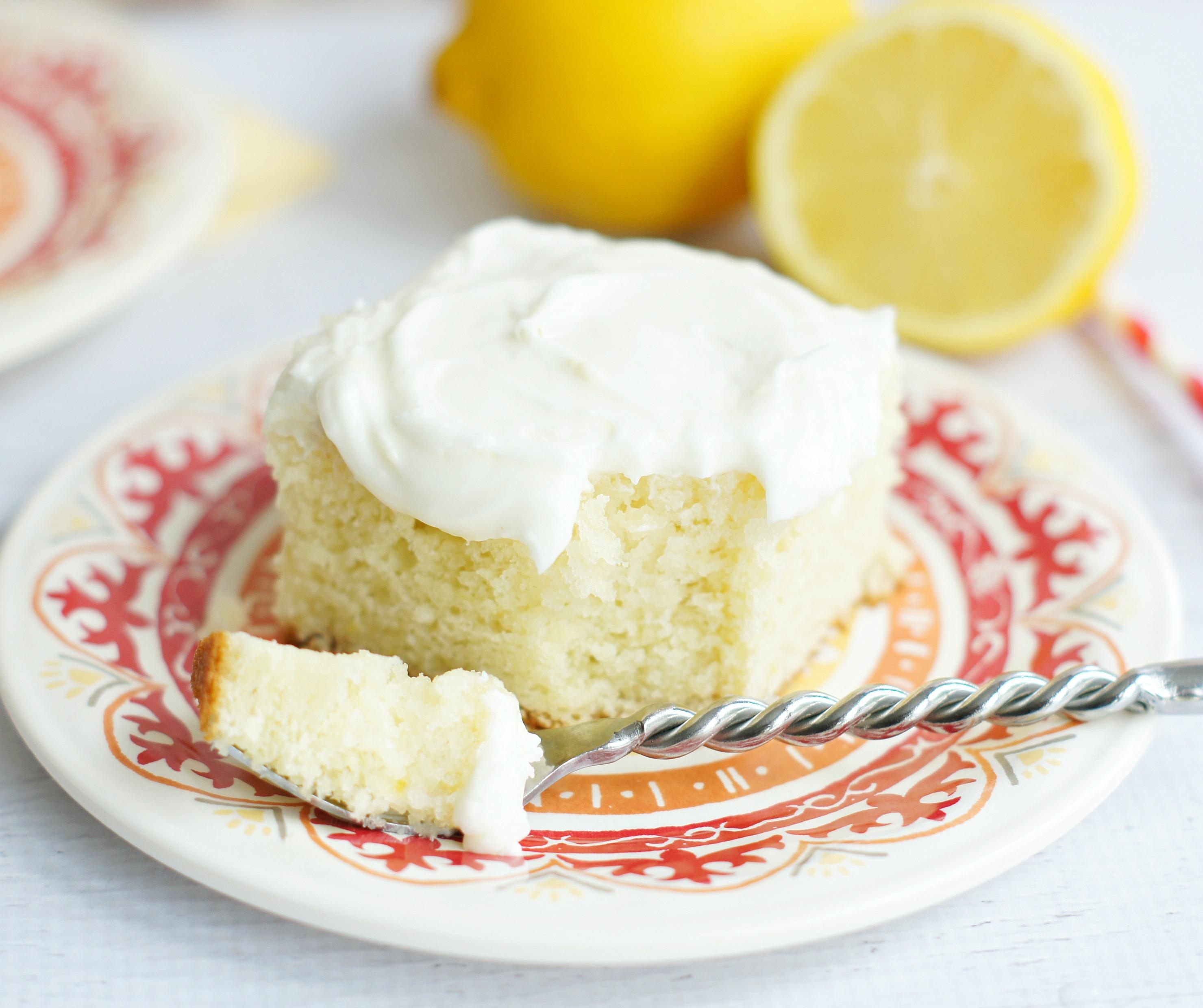 Lemon Cake with Sour Cream Lemon Icing 5 Boys Baker