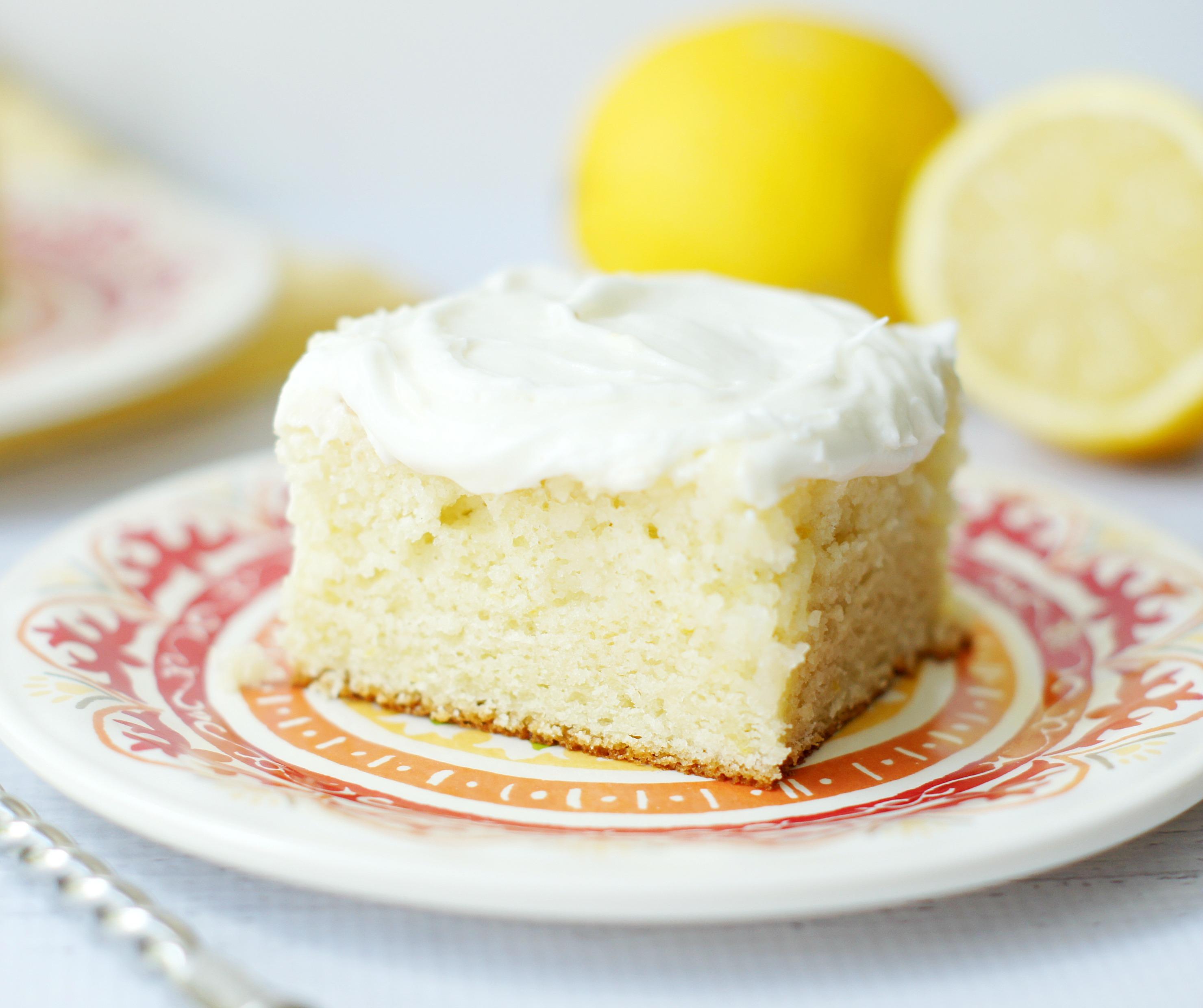 Lemon Cakes Recipes: Lemon Cake With Sour Cream Lemon Icing