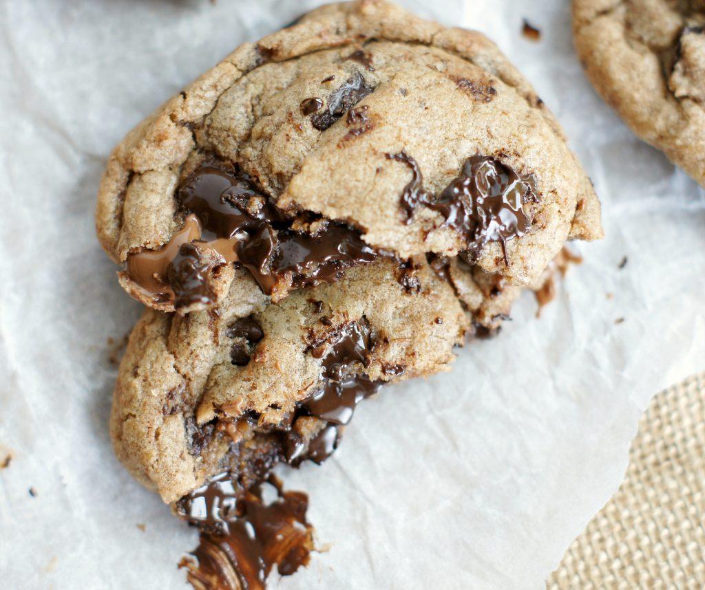 salted caramel hazelnut spread cookies