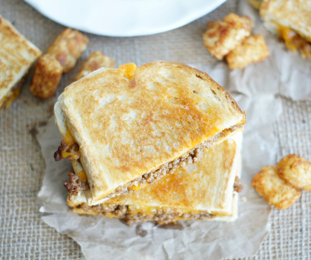sloppy grilled cheese