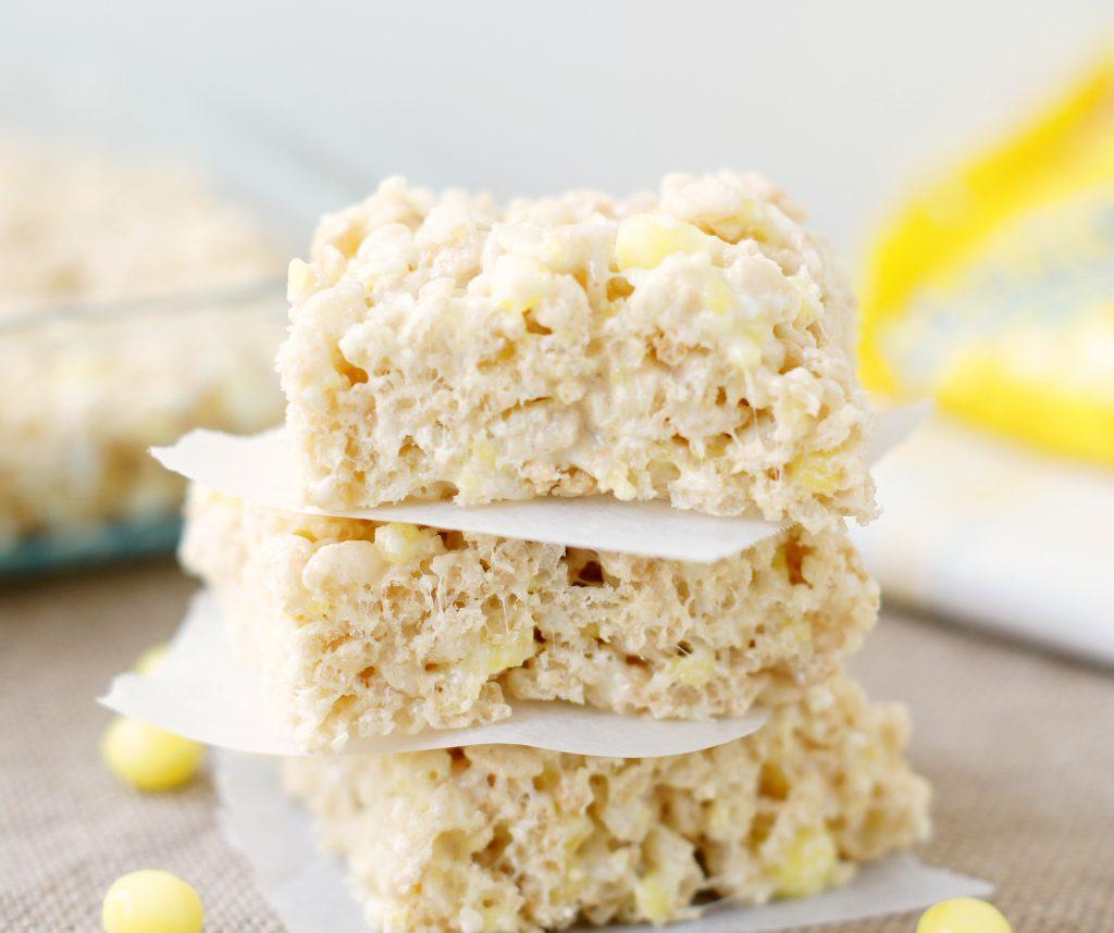 Lemonhead Rice Krispie Treats