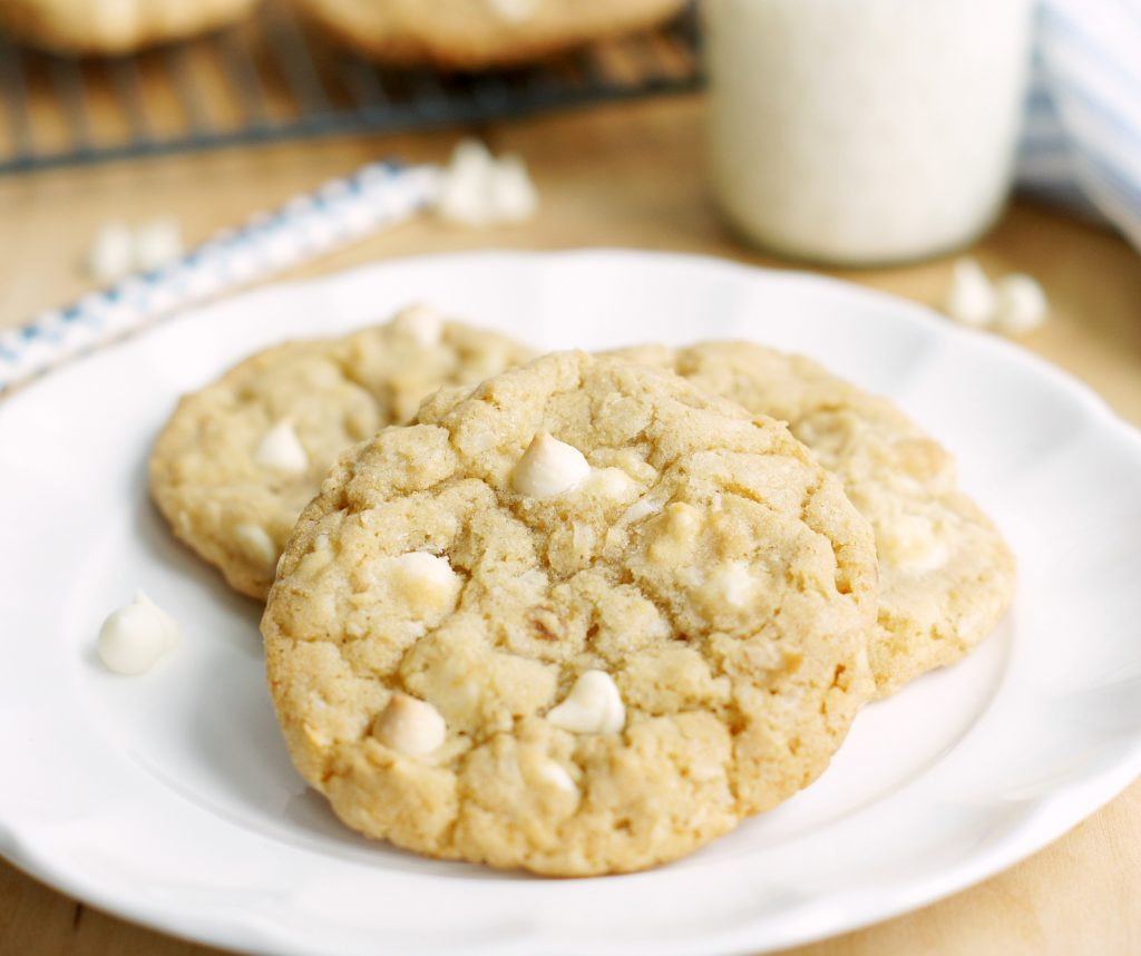 white chocolate coconut-cashew cookies