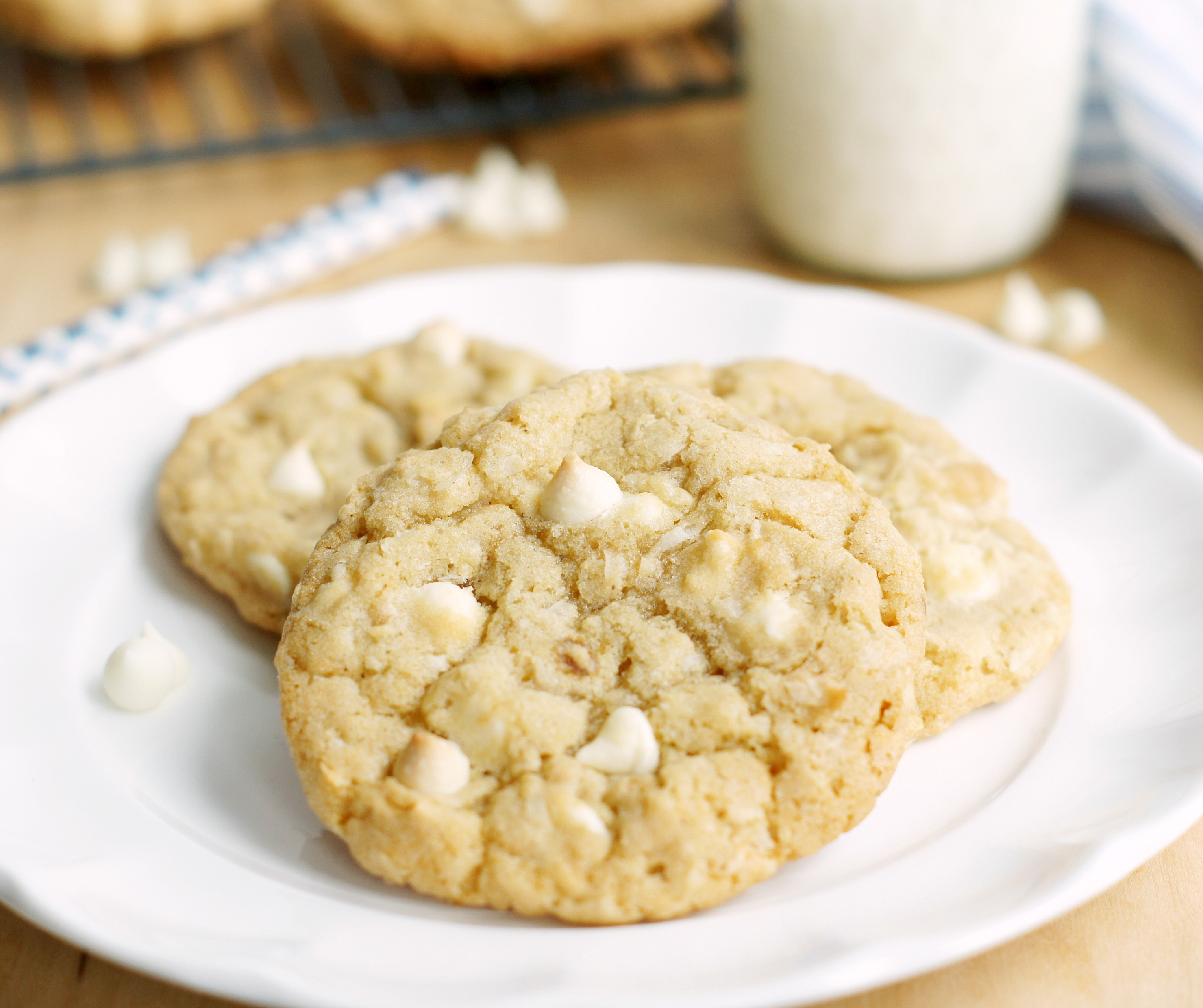 White Chocolate Coconut-Cashew Cookies - 5BoysBaker