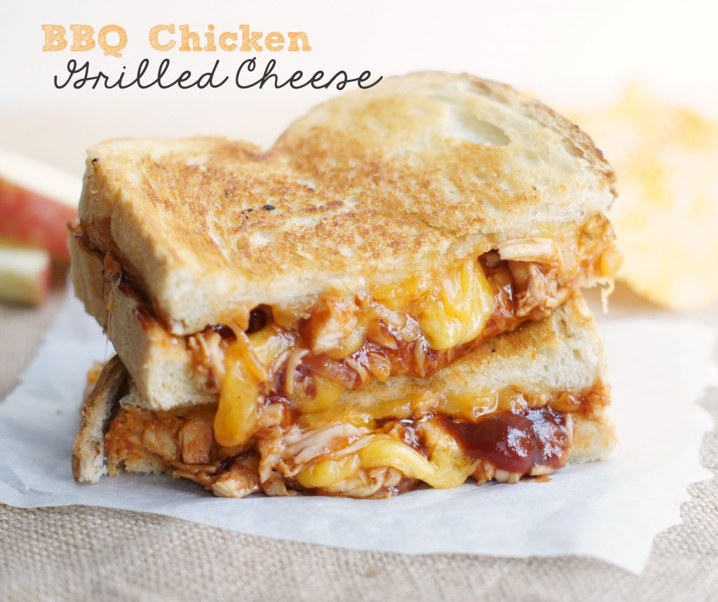 BBQ Chicken Grilled Cheese - 5 Boys Baker