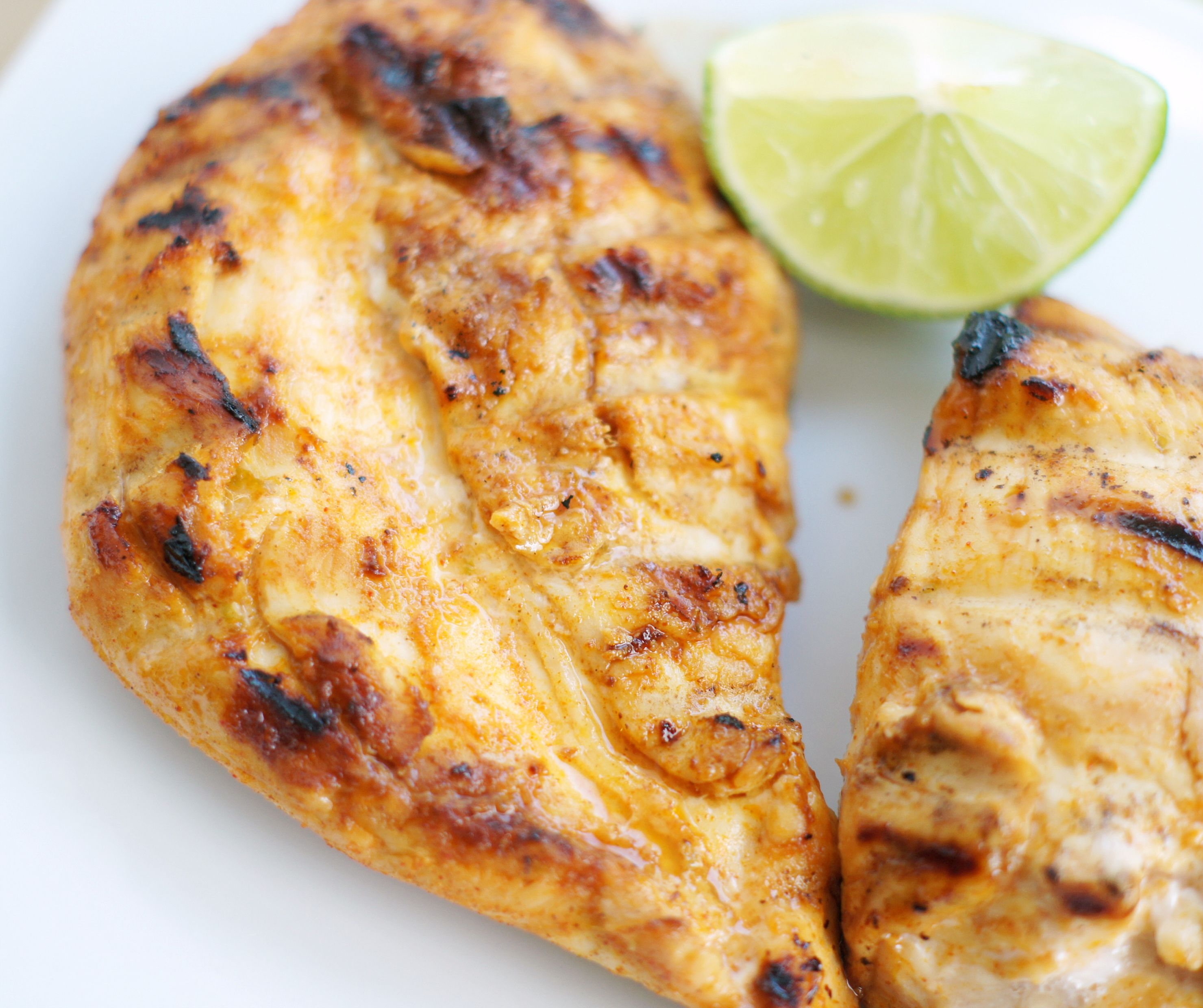 Plate of Grilled Honey Lime Chicken
