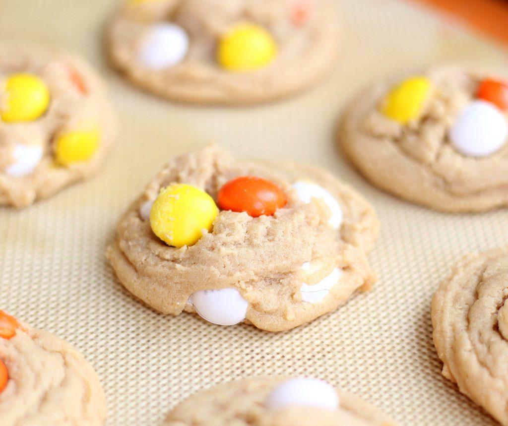 PB white chocolate M&M Cookies