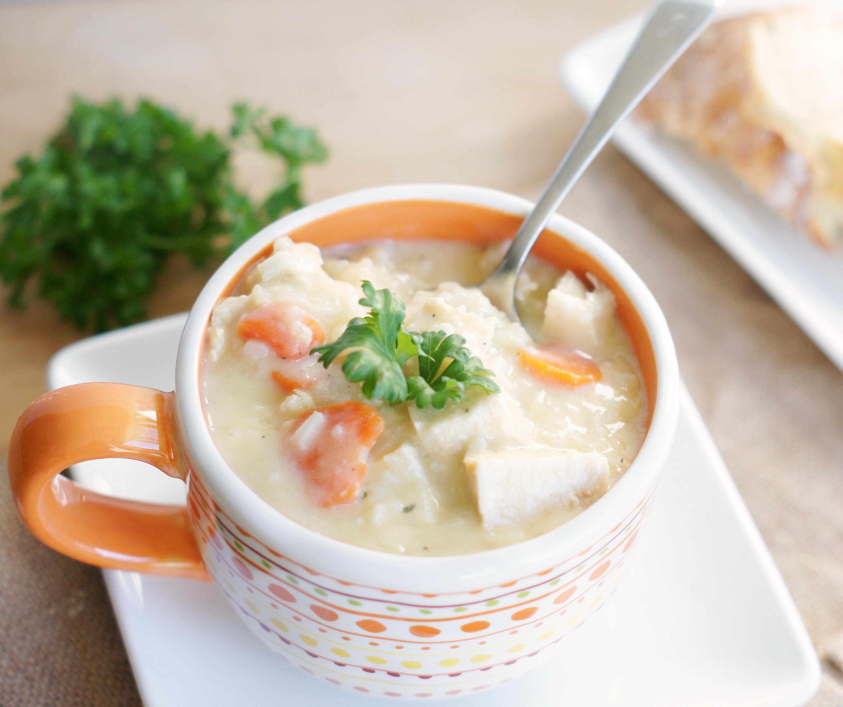Lemon Chicken & Rice Soup - 5BoysBaker