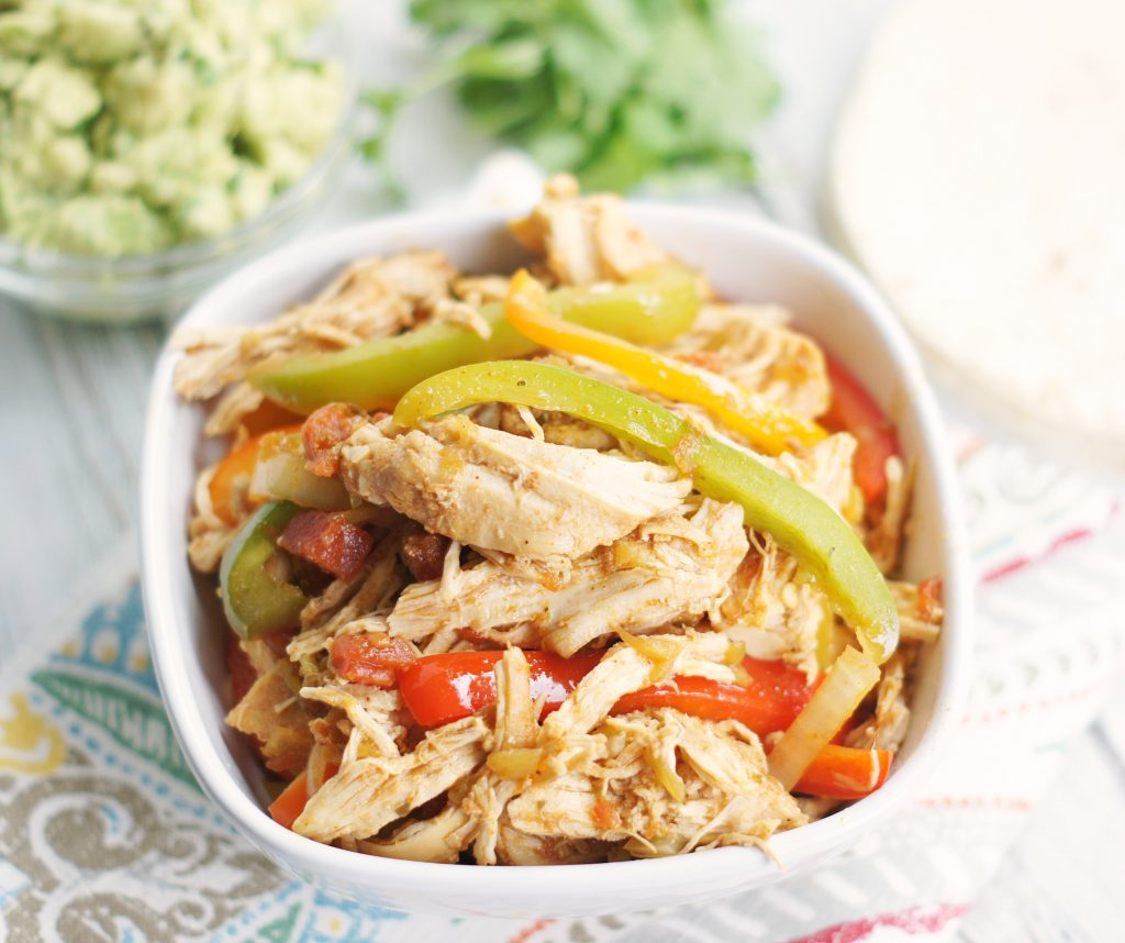 Slow cooker chicken fajita