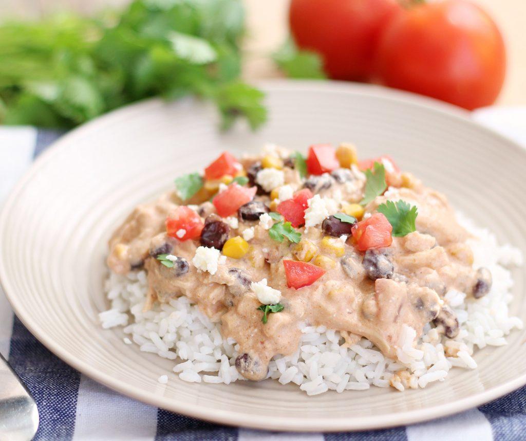 Slow Cooker Fiesta Chicken - 5BoysBaker