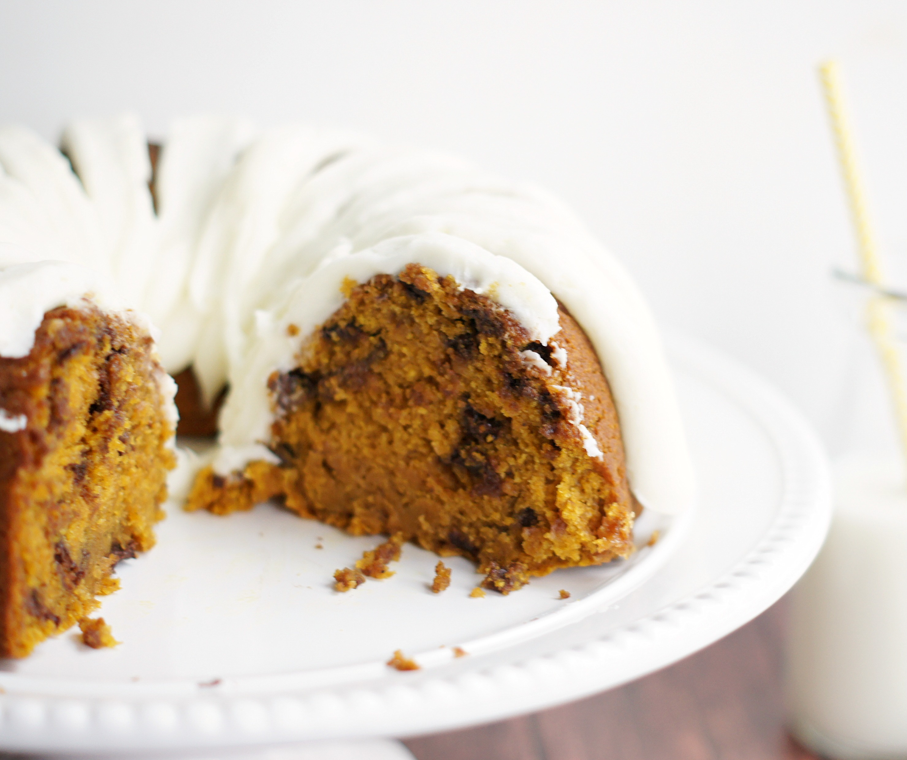 Pumpkin Choc Chip Bundt Cake