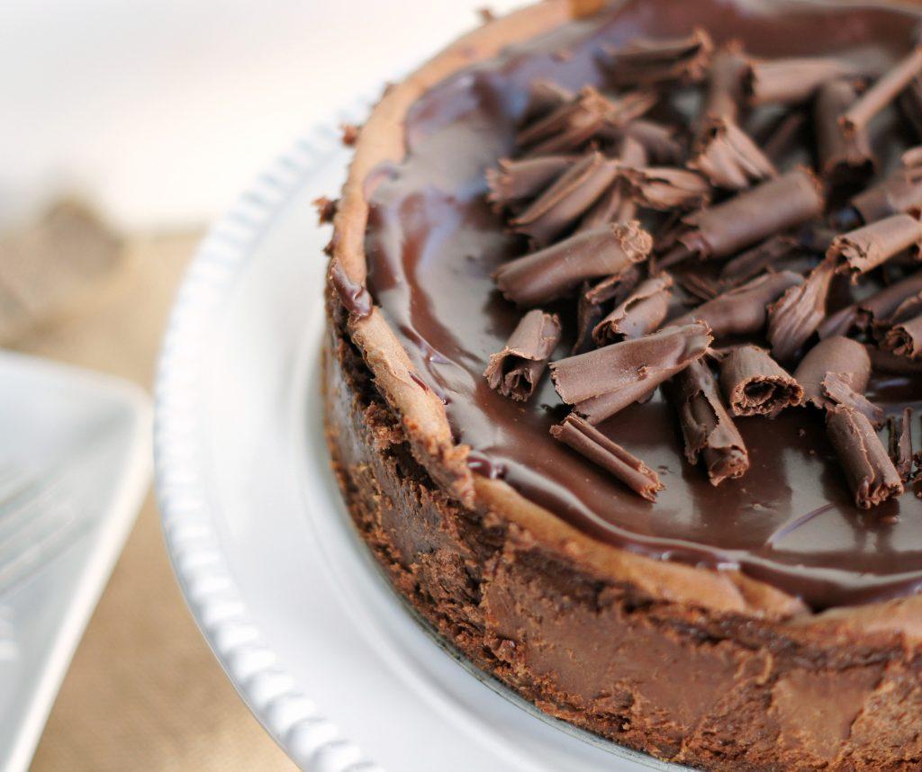 decadent chocolate cheesecake