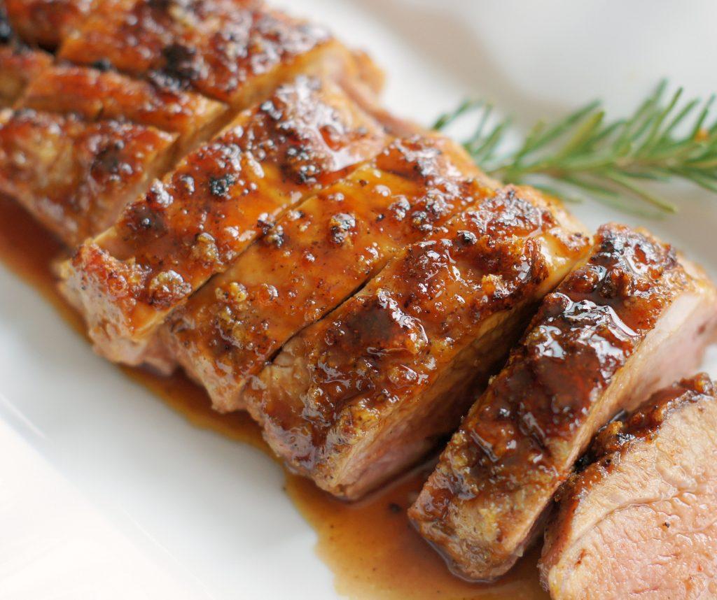 maple-glazed pork tenderloin