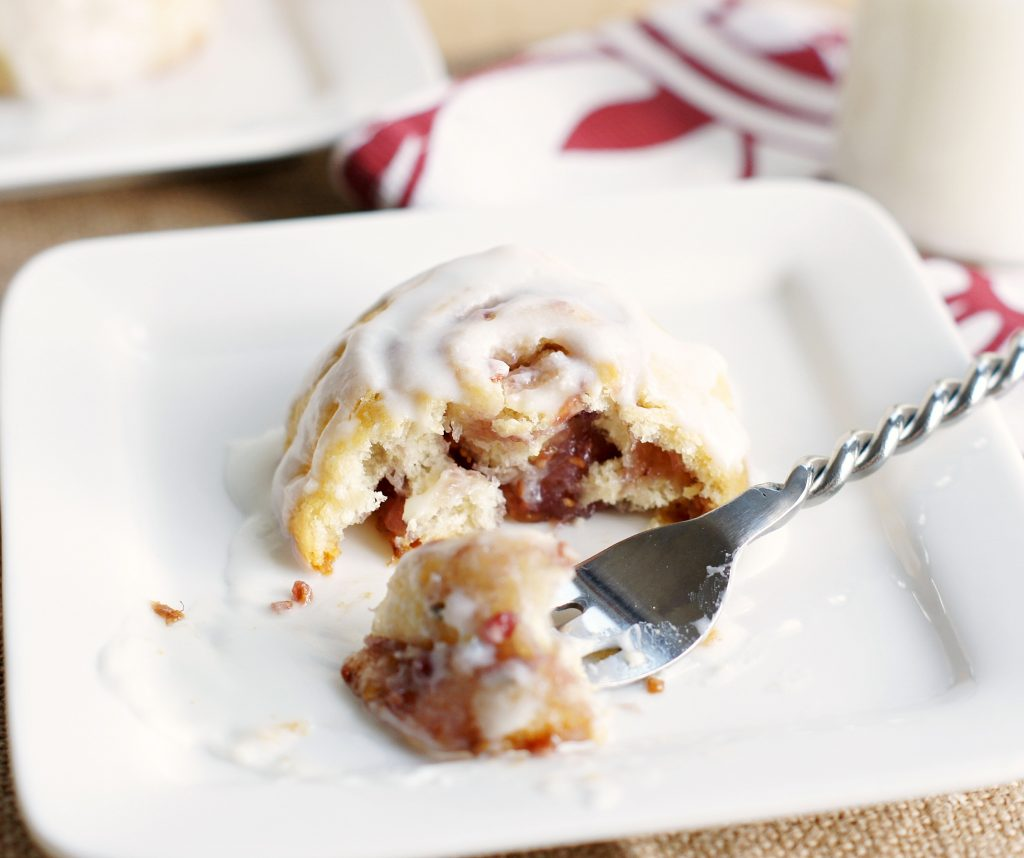 mini crescent raspberry rolls