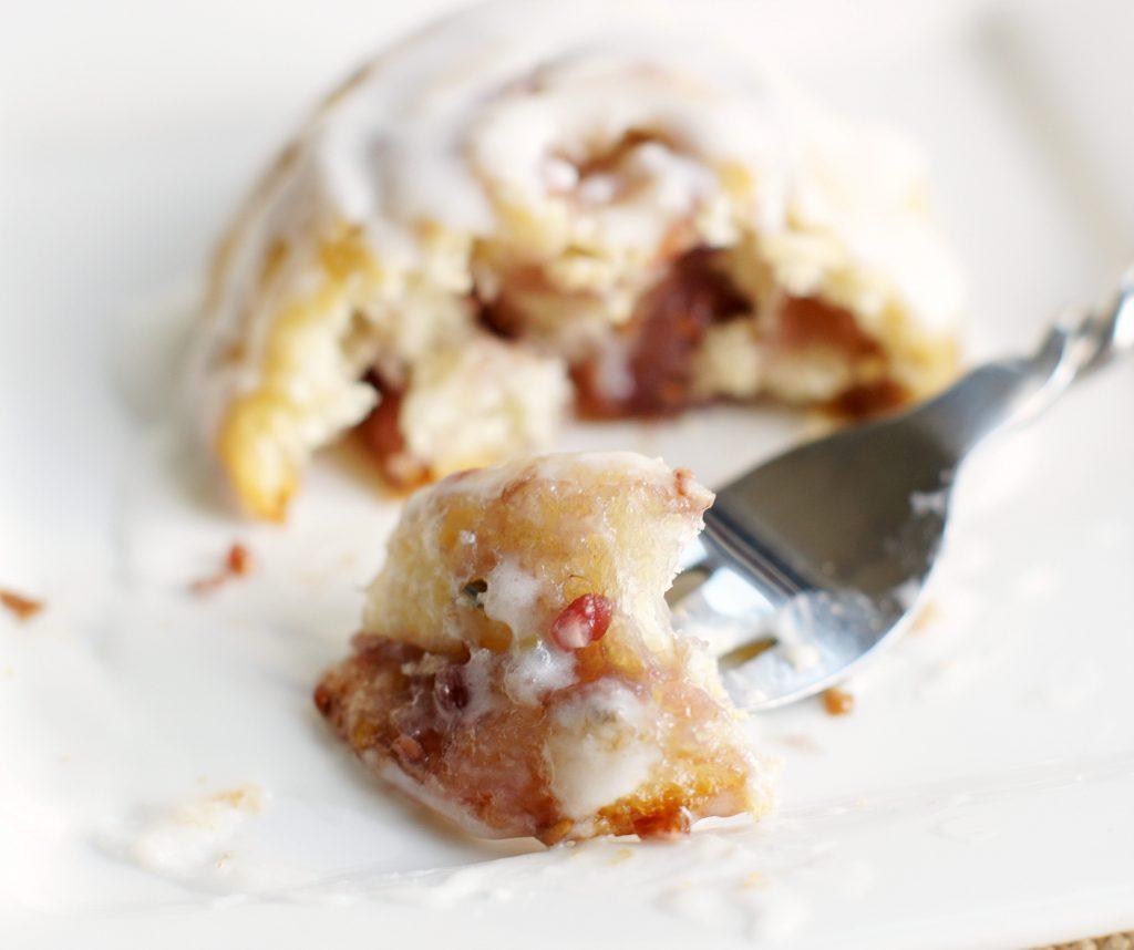 mini raspberry crescent rolls