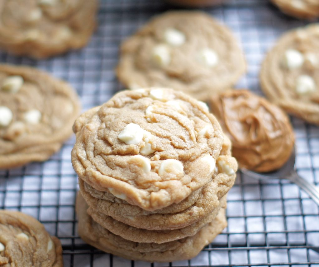 cookie butter white chocolate chip cookies