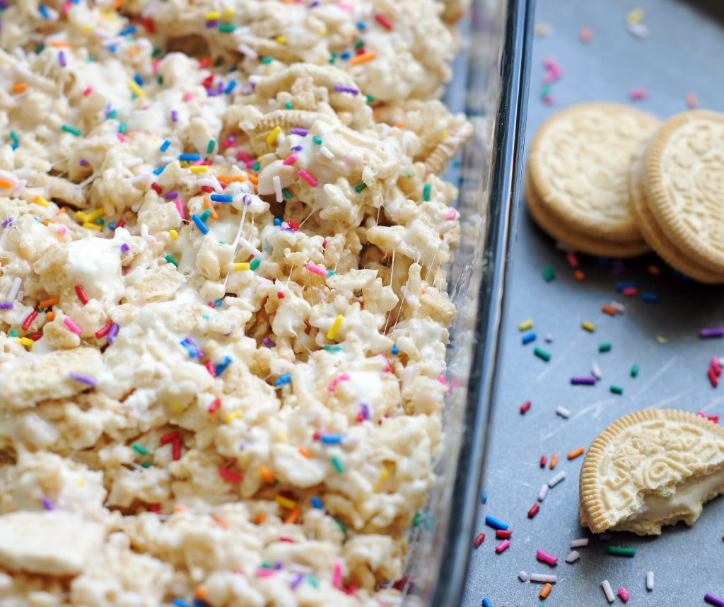 golden oreo rice krispie treats