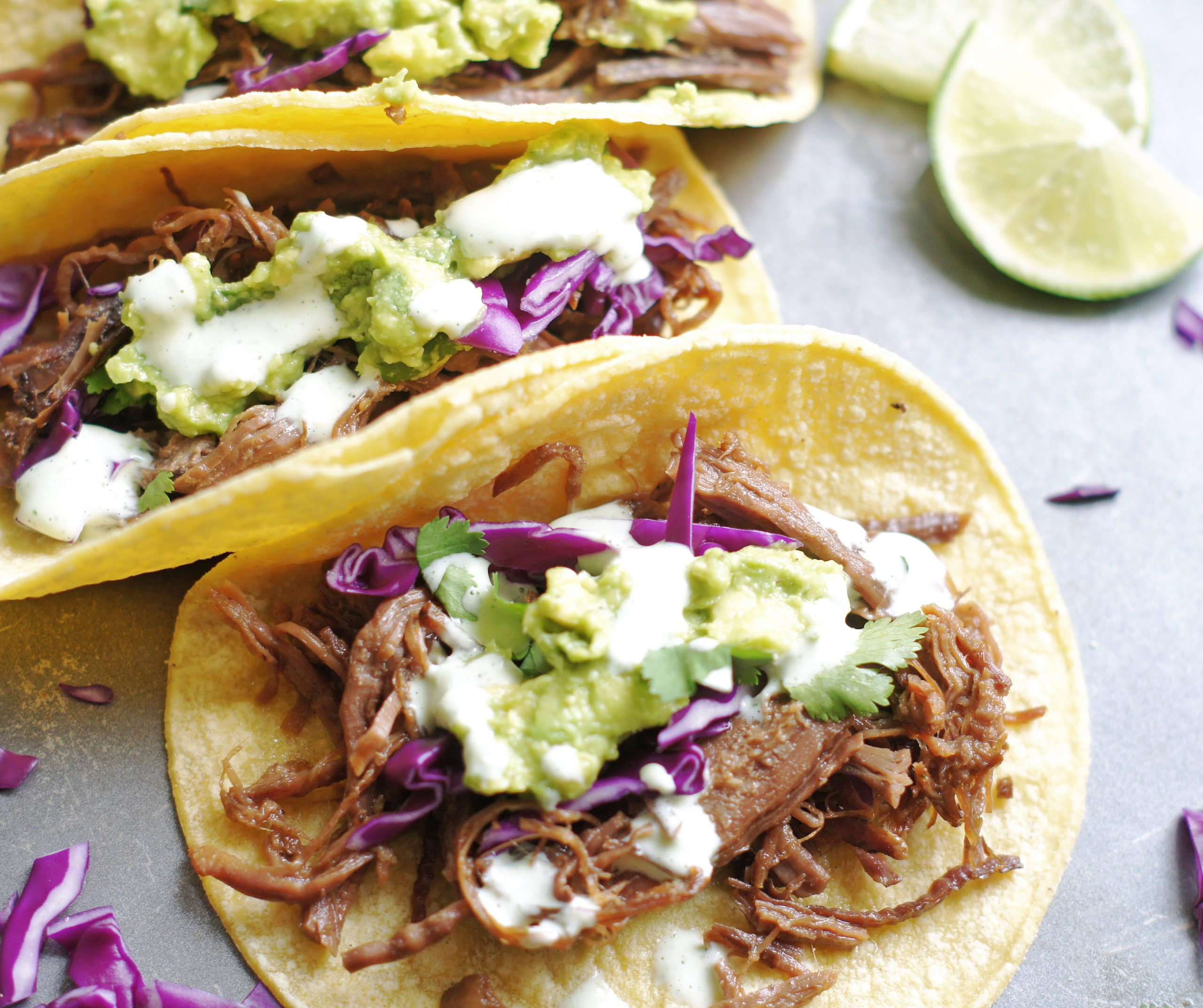 Flank steak tacos with toppings
