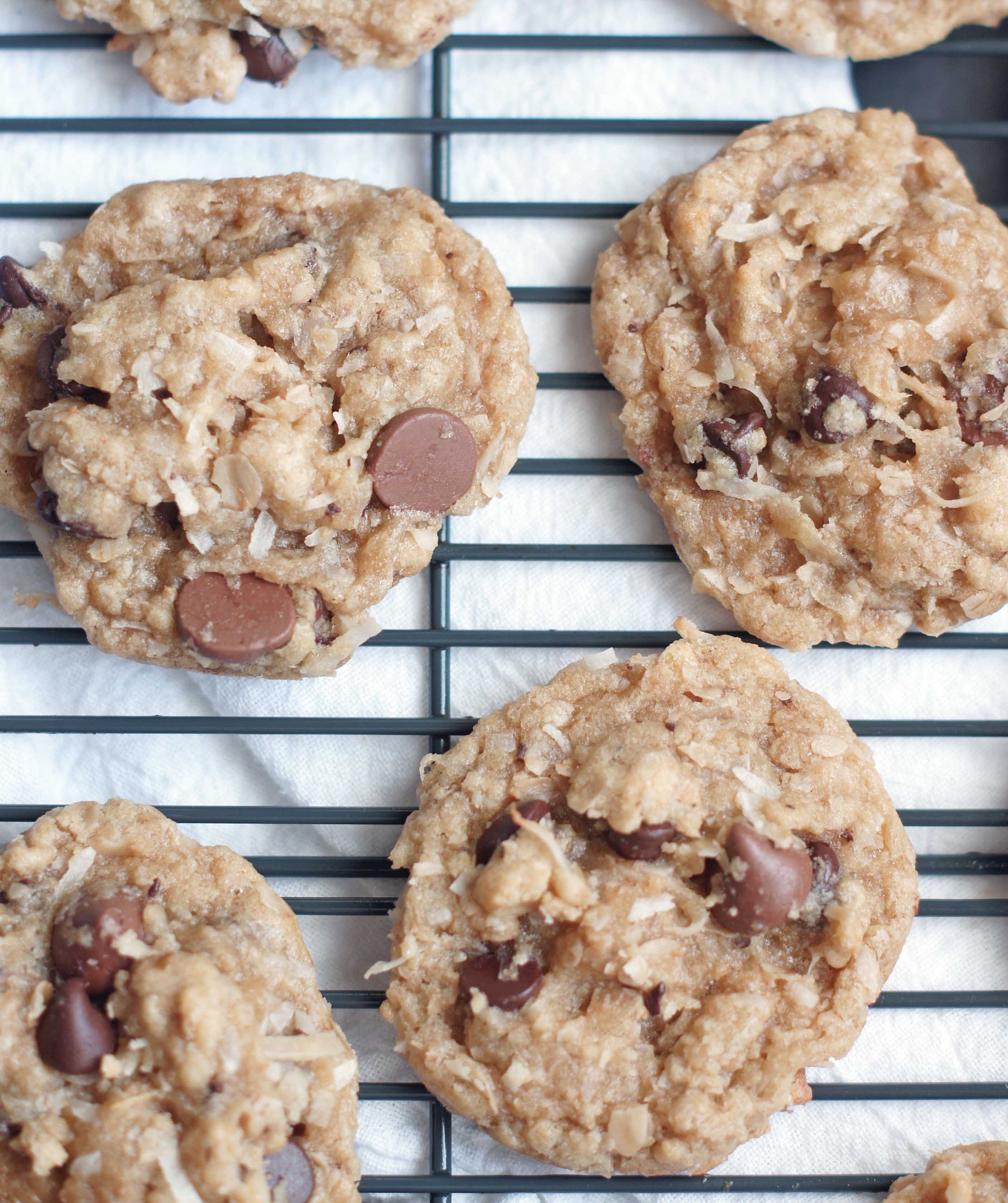 Oatmeal Coconut Chocolate Chip Cookies - 5 Boys Baker
