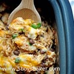 Spoonful of slow cooker spicy chicken & rice