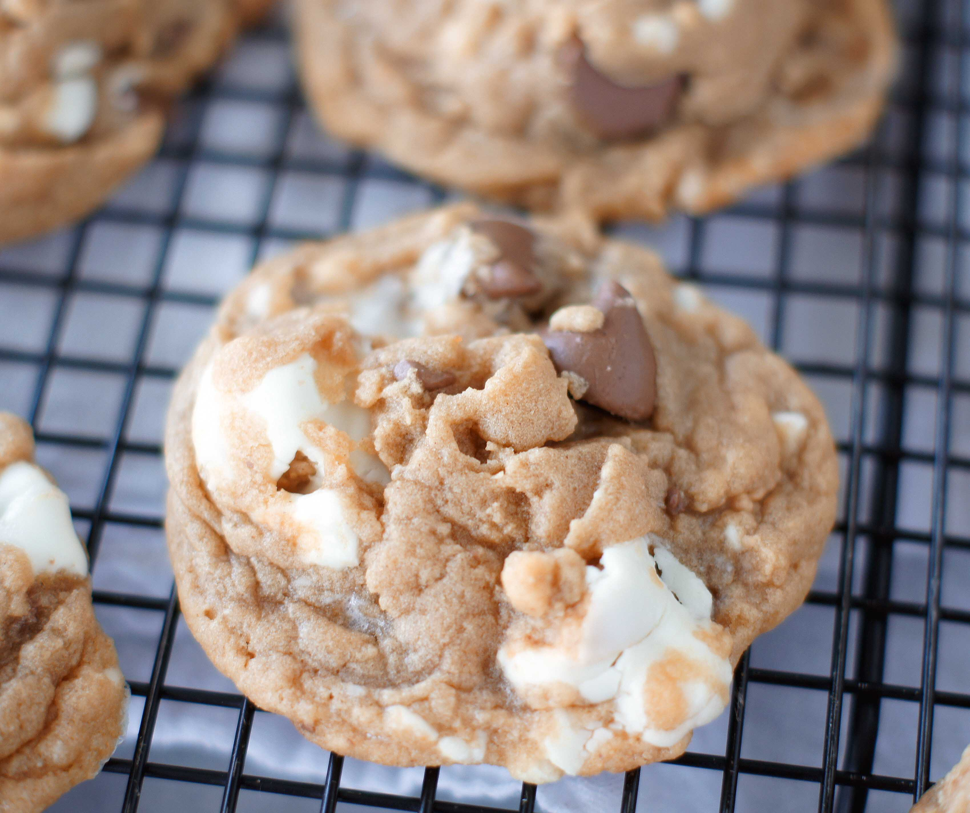 Reese's Marshmallow Peanut Butter Chip Cookies - 5 Boys Baker